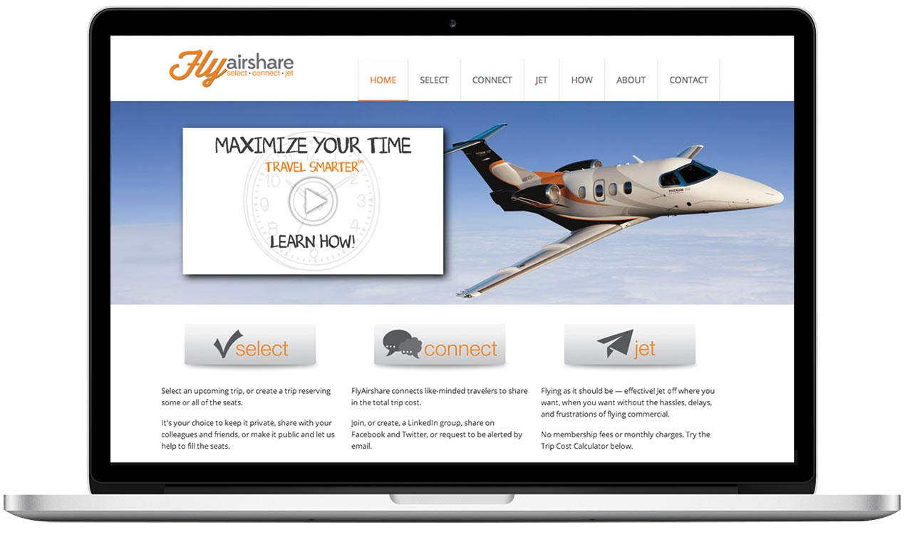 FlyAirShare - Website Design Project