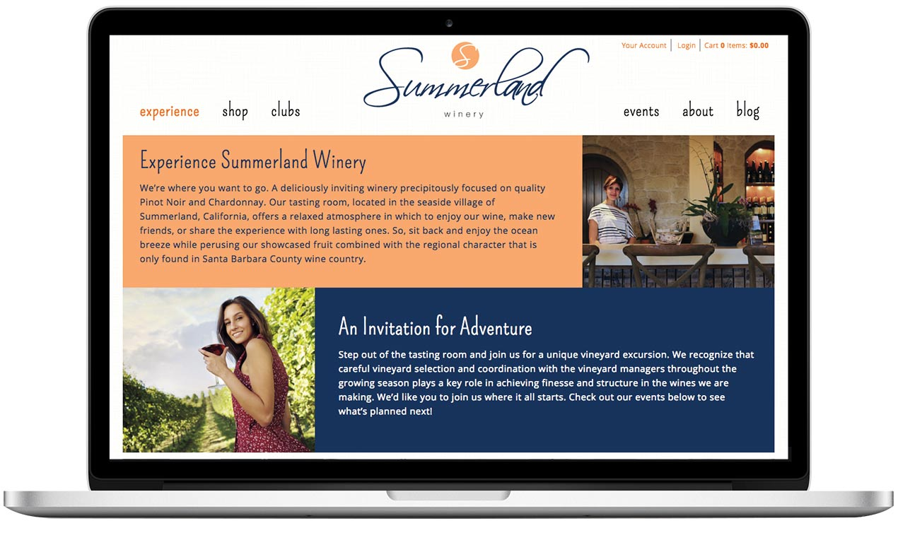 Summerland Winery - Website Design Project
