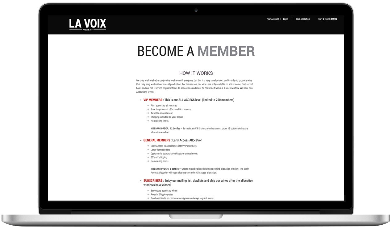 La Voix Winery Become a Member