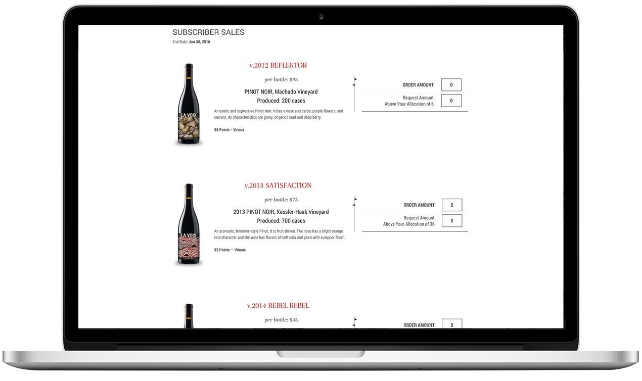 La Voix Winery Choose Your Wines