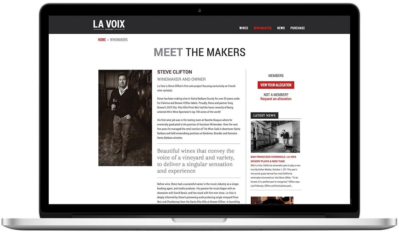La Voix Winery Meet the Winemakers