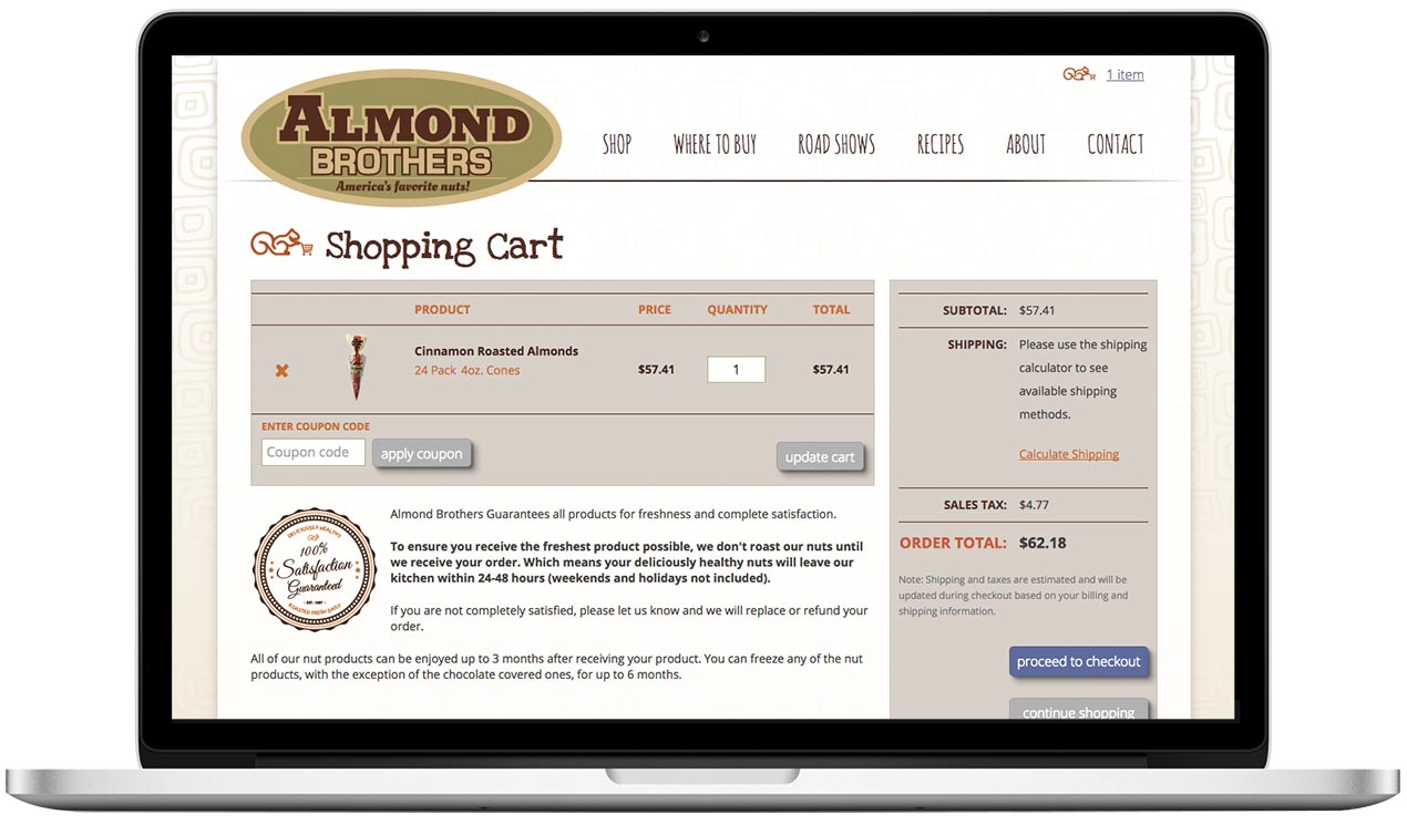 Almond Brothers - Website Design Project