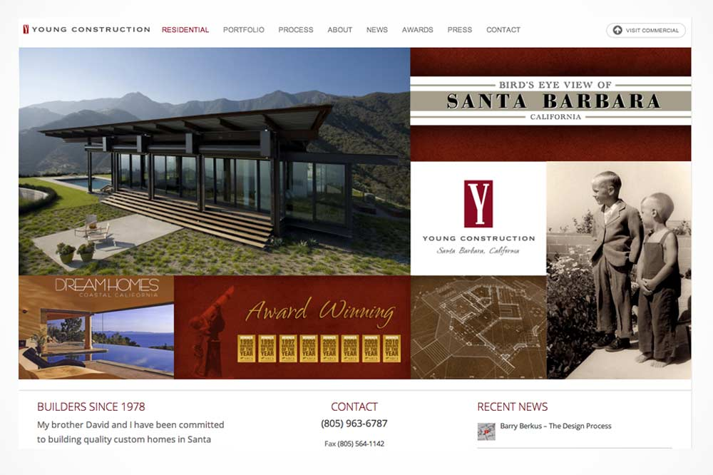 Residential Home Page - Young Construction, Santa Barbara