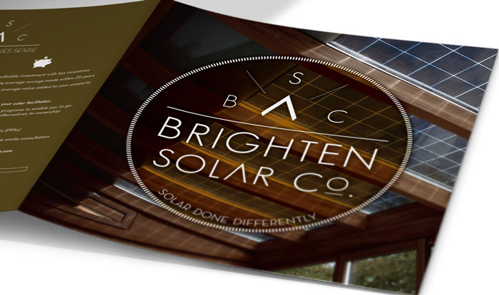 A Branding Project for a Santa Barbara client - Brighten Solar