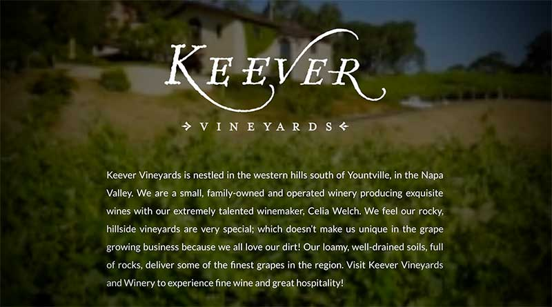 Keever Vineyards in Napa Valley